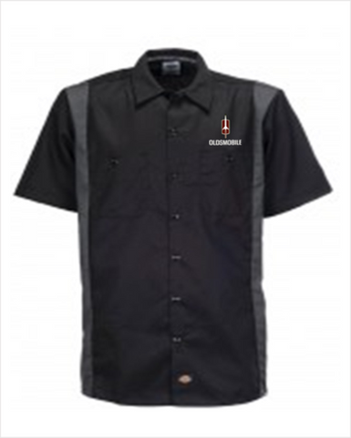 Oldsmobile Rocket Dickies Regular Fit Short Sleeve Two-Tone Work Shirt