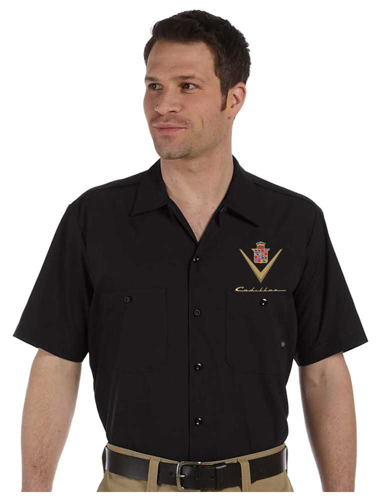 mechanic shirt,work shirt,industrial shirt,cadillac