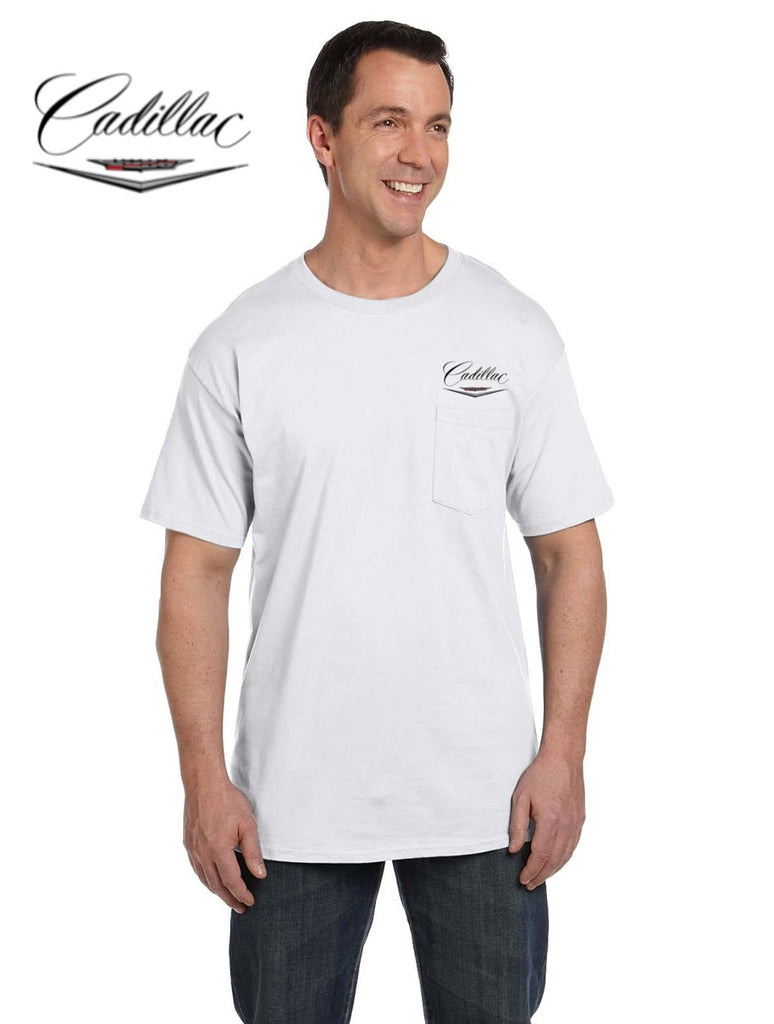 Cadillac 50's Pocket T-shirt (embroidered logo on front)