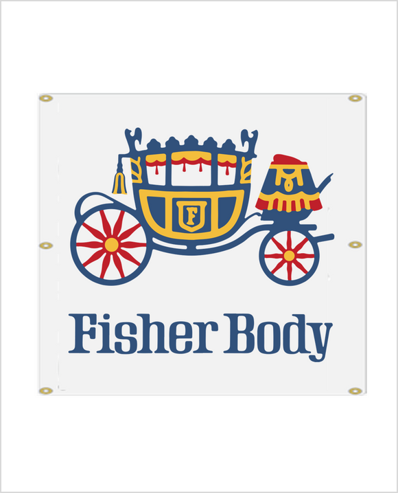 FISHER BODY 1970'S BANNER