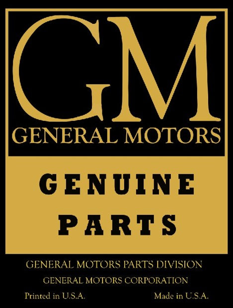 1936 to 1963 General Motors Parts emblem GM ad Poster, Banner or Metal sign