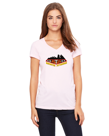 GREATER PITTSBURGH GTO CLUB Ladies Short sleeve V-neck Gildan T-shirt