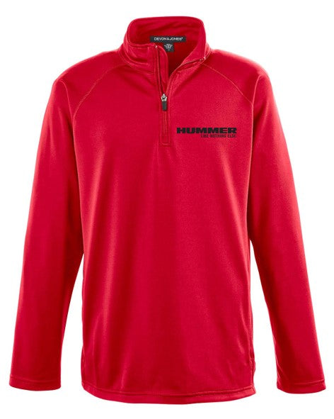 HUMMER Athletic Jacket 1/4 Zip Pullover Embroidered