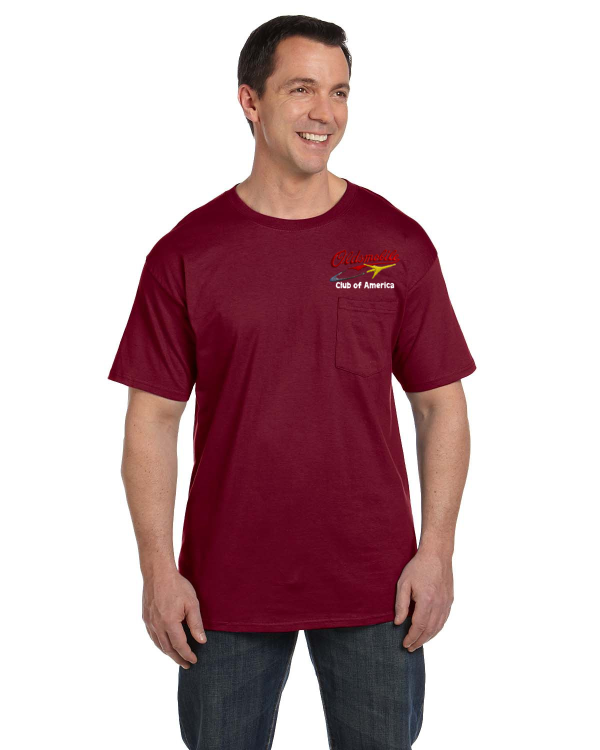 OCA Oldsmobile New Design Script & Rocket Pocket t-shirt (embroidered)