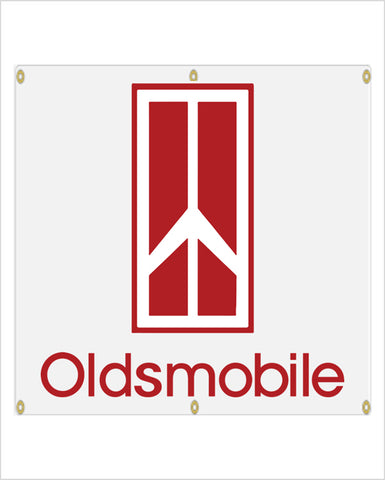 1980's Oldsmobile Garage Banner