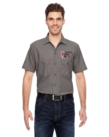 POCI NEW LOGO Pontiac Oakland Club International DICKIES Mechanic shirts