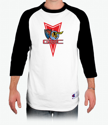 POCI Pontiac Oakland Club International Champion Tagless Raglan Baseball T-Shirt