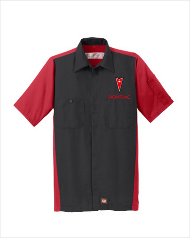Pontiac 70's Red Kap Short Sleeve Two-Tone Mechanic Shirt