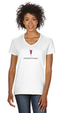 Pontiac 2000's Ladies Short sleeve V-neck Gildan T-shirt