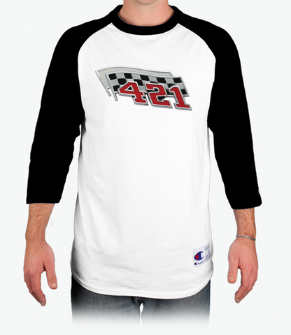 Pontiac 421 Champion Tagless Raglan Baseball T-Shirt