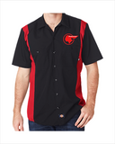 Pontiac Indian Red Kap Regular Fit Short Sleeve Two-Tone Work Shirt
