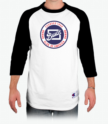 BCA Buick Club of America Champion Tagless Raglan Baseball T-Shirt