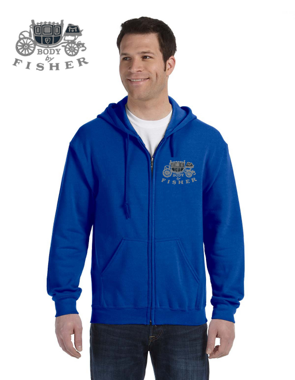 Body By Fisher Embroidered Full Zip Hoodie