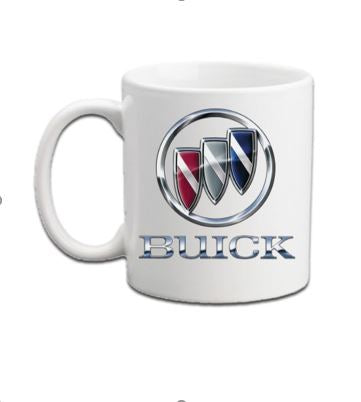 Buick Coffee mugs- Vintage Badges