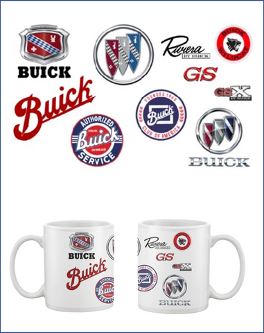 BCA Buick Through the Years coffee mug