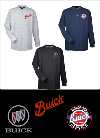 Classic Buick Henley Shirts