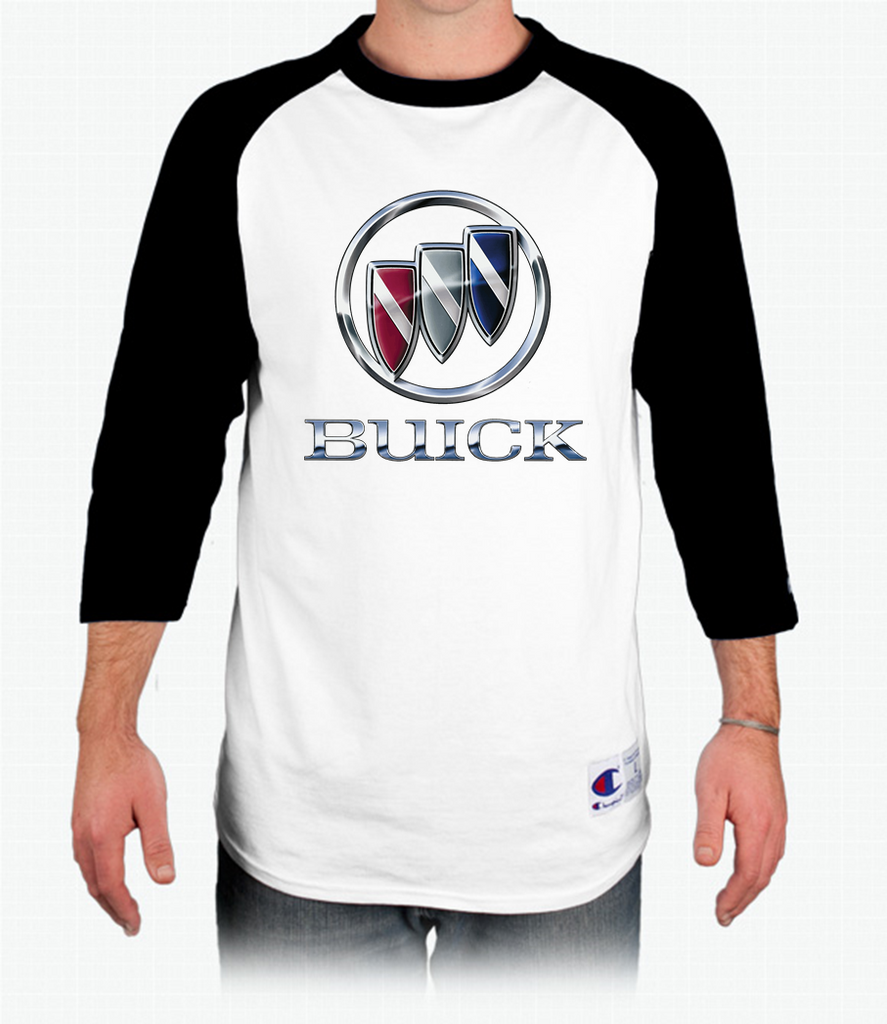 Buick Shield Raglan Baseball T-Shirt