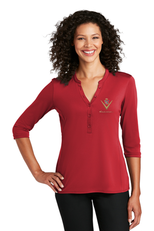 Cadillac 1940's Ladies Henley Shirt