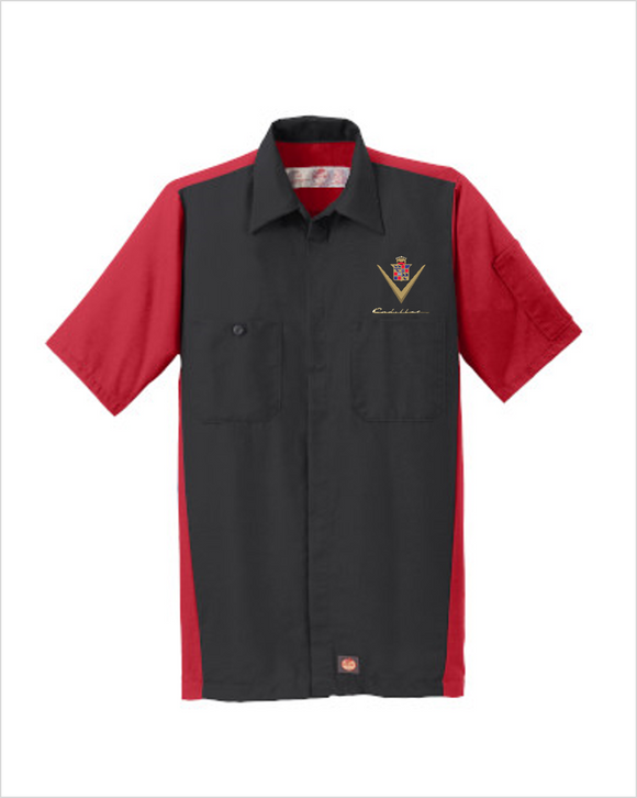 1940s Cadillac Red Kap Short Sleeve Two-Tone Mechanic Shirt