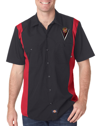 1947 Cadillac Dickies Regular Fit Short Sleeve Two-Tone Mechanic Shirt