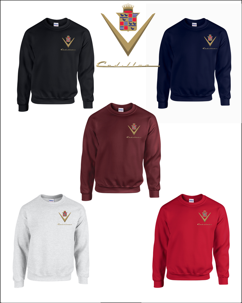 Classic Cadillac Embroidered Sweatshirts
