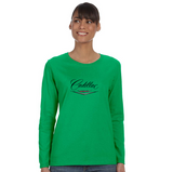 Cadillac 50's  Ladies' 5.3 oz. Gildan Heavy Cotton Missy Fit Long-Sleeve T-Shirt