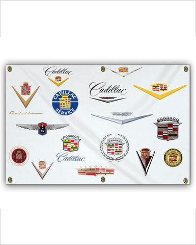 Cadillac Through the Years 5x3 Cadillac Badges Banner