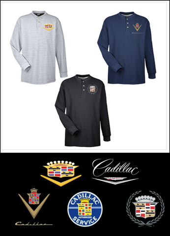 Classic Cadillac Henley Shirts