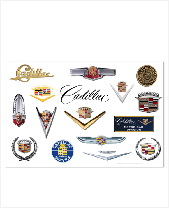 Cadillac Through the Years Metal Sign 12 x 18