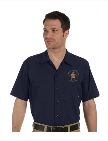 Cadillac LaSalle Club DICKIES Mechanics shirt (NO background on logo)