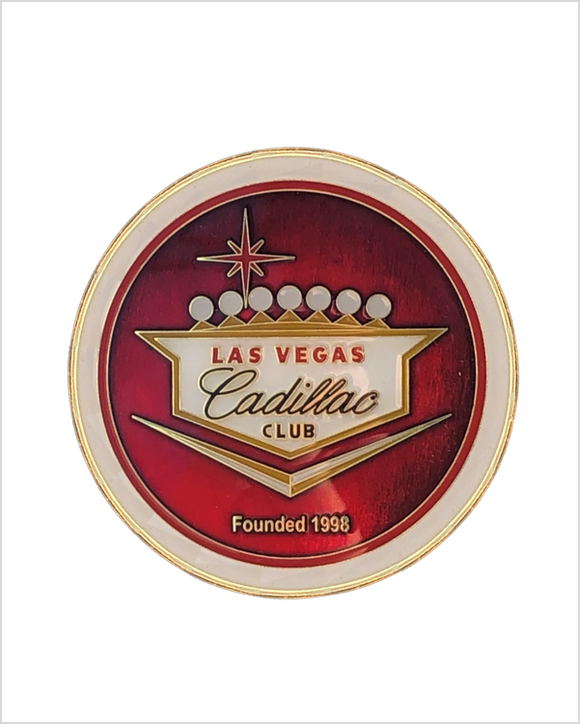 Las Vegas Cadillac Club Grille Badge (USA shipping only)