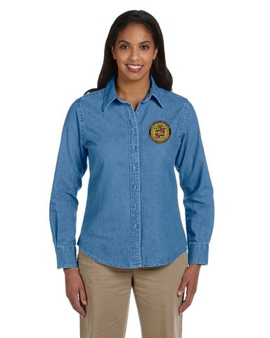 Ladies Cadillac & LaSalle Museum Denim shirt