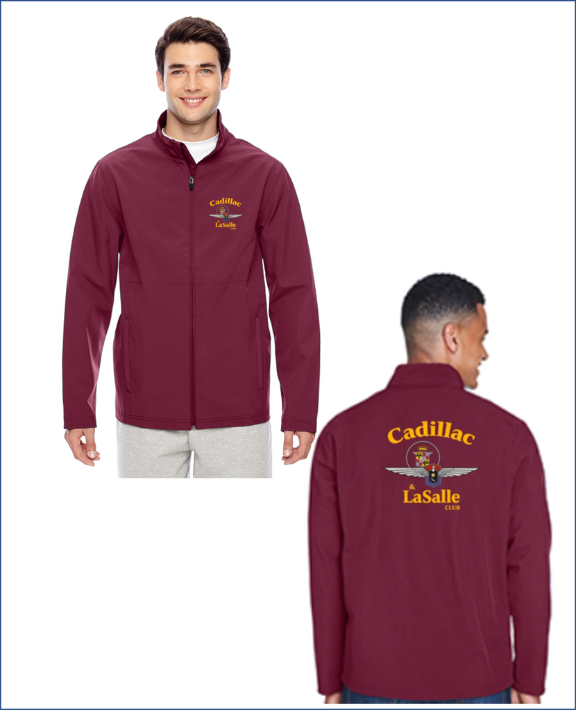 CLC Cadillac & LaSalle CLub Soft Shell Lightweight jacket (FULL BACK EMBROIDERY and left chest Alternate new CLC design)