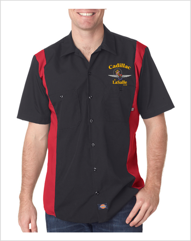 Cadillac LaSalle Club Dickies Regular Fit Short Sleeve Two-Tone Mechanics Shirt