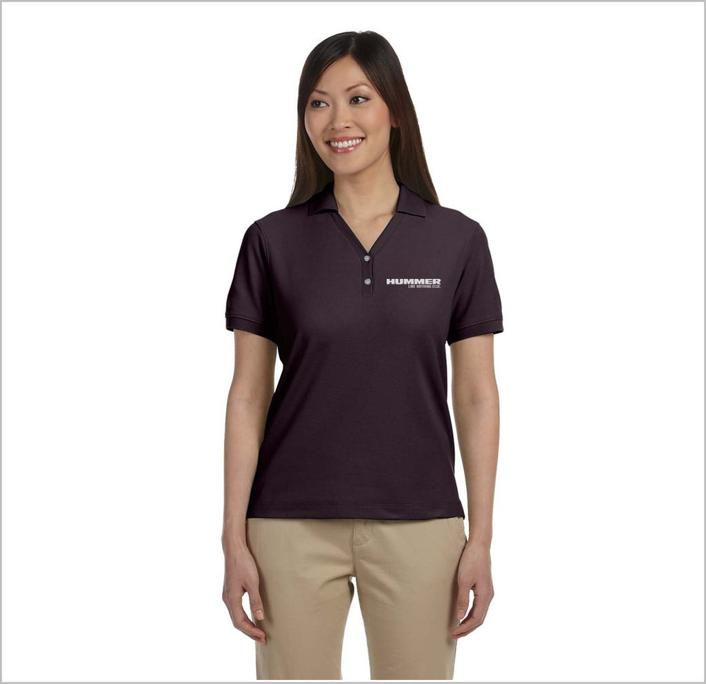 "Hummer ""Like Nothing Else"" Ladies Y-Collar Pique Polo"