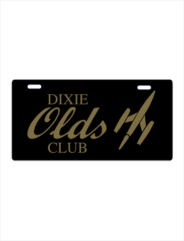 Olds Dixie Club License plate