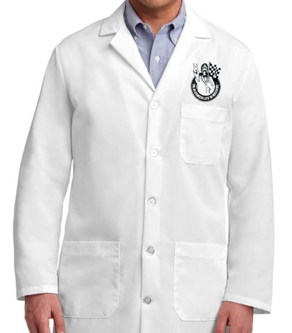 Dr. Oldsmobile lab coat