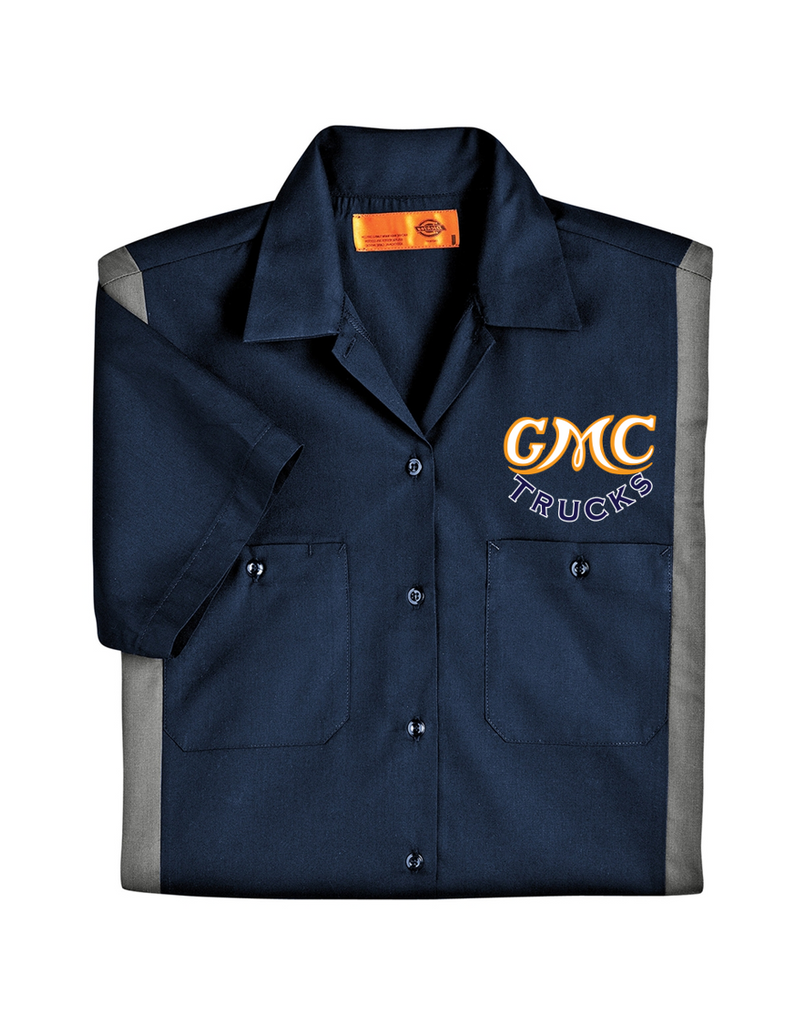 GMC 1930's Dickies Regular Fit Short Sleeve Two-Tone Mechanics Work Shirt