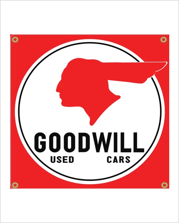 Pontiac Goodwill Used Cars Garage Banner