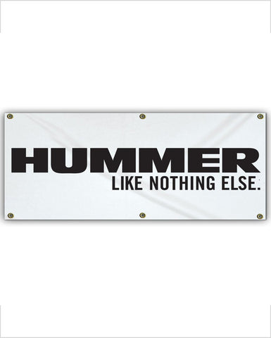"Hummer ""Like Nothing Else"" Vinyl Garage Banner"