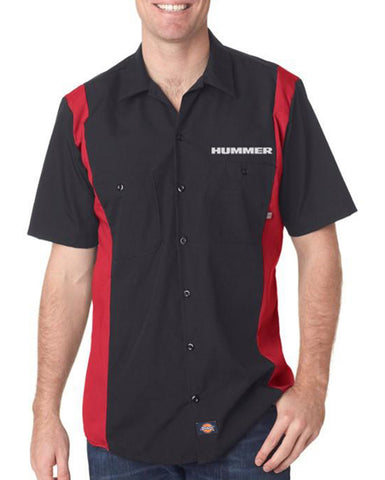 HUMMER Dickies Regular Fit Short Sleeve Two-Tone Mechanics Shirt Embroidered