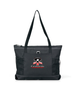 Midwest Firebirds Nylon Denier durable zippered tote