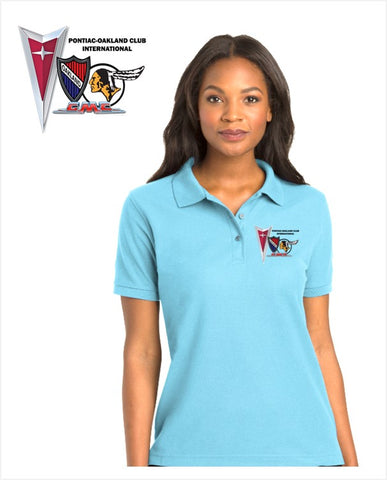 POCI Pontiac Oakland Club International Ladies Cotton Blend polo