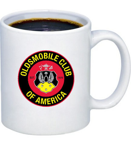 Oldsmobile badges coffee mug