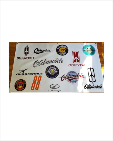 Oldsmobile Through the years Vinyl Banner