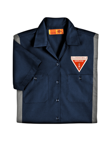Oldsmobile Service Dickies Regular Fit Short Sleeve Two-Tone Mechanics Shirt