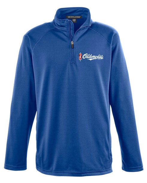 Oldsmobile Script 1/4 Zip Pullover Athletic Jacket