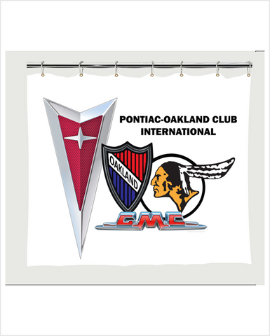 POCI Pontiac Oakland Club International  Color Shower Curtain