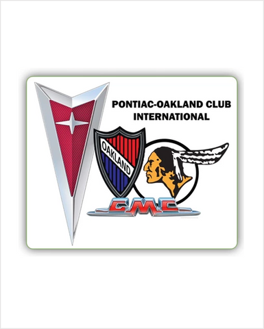 "POCI NEW logo Pontiac Oakland International 15 x 18"" Metal sign"