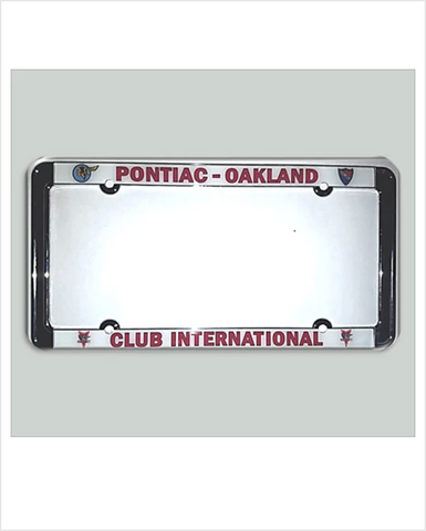 POCI Pontiac Oakland International Chrome License Plate Frame with full color print
